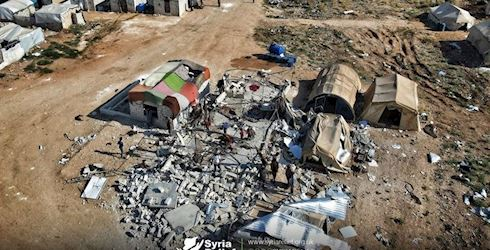 UK charity's school destroyed by shelling in Syrian IDP camp