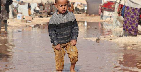 Heavy Storms in Syria & Lebanon kill one child & affect 41,200